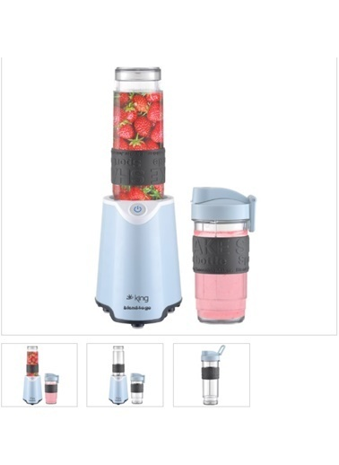 King K-483 Blend To Go Kişisel Blender Mavi Mavi